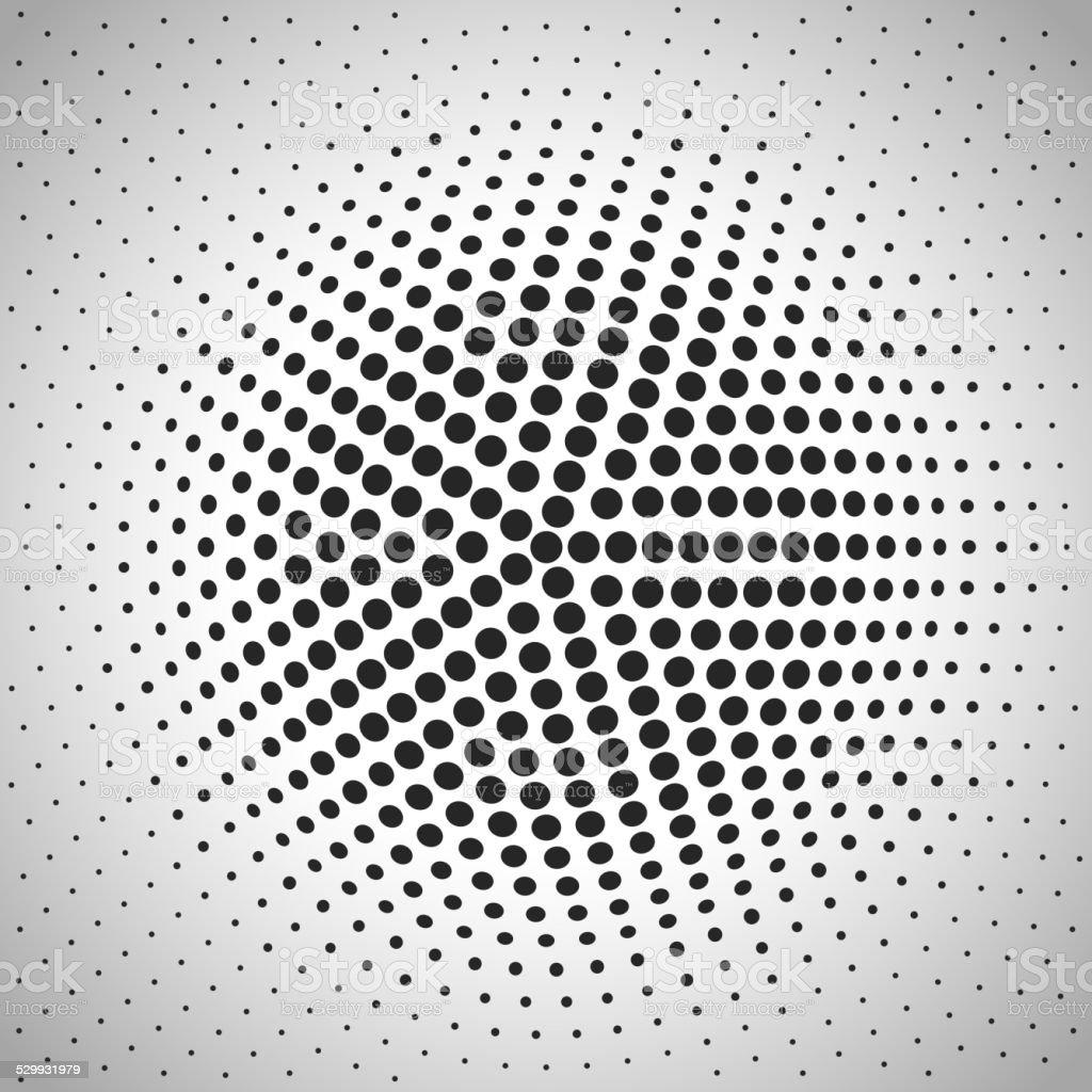 Radial halftone background. vector art illustration