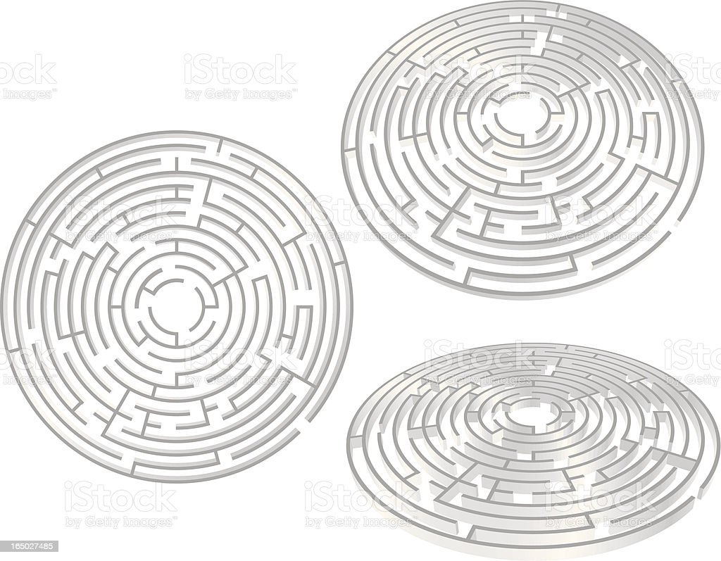 Radial Maze - 3D Vector royalty-free stock vector art