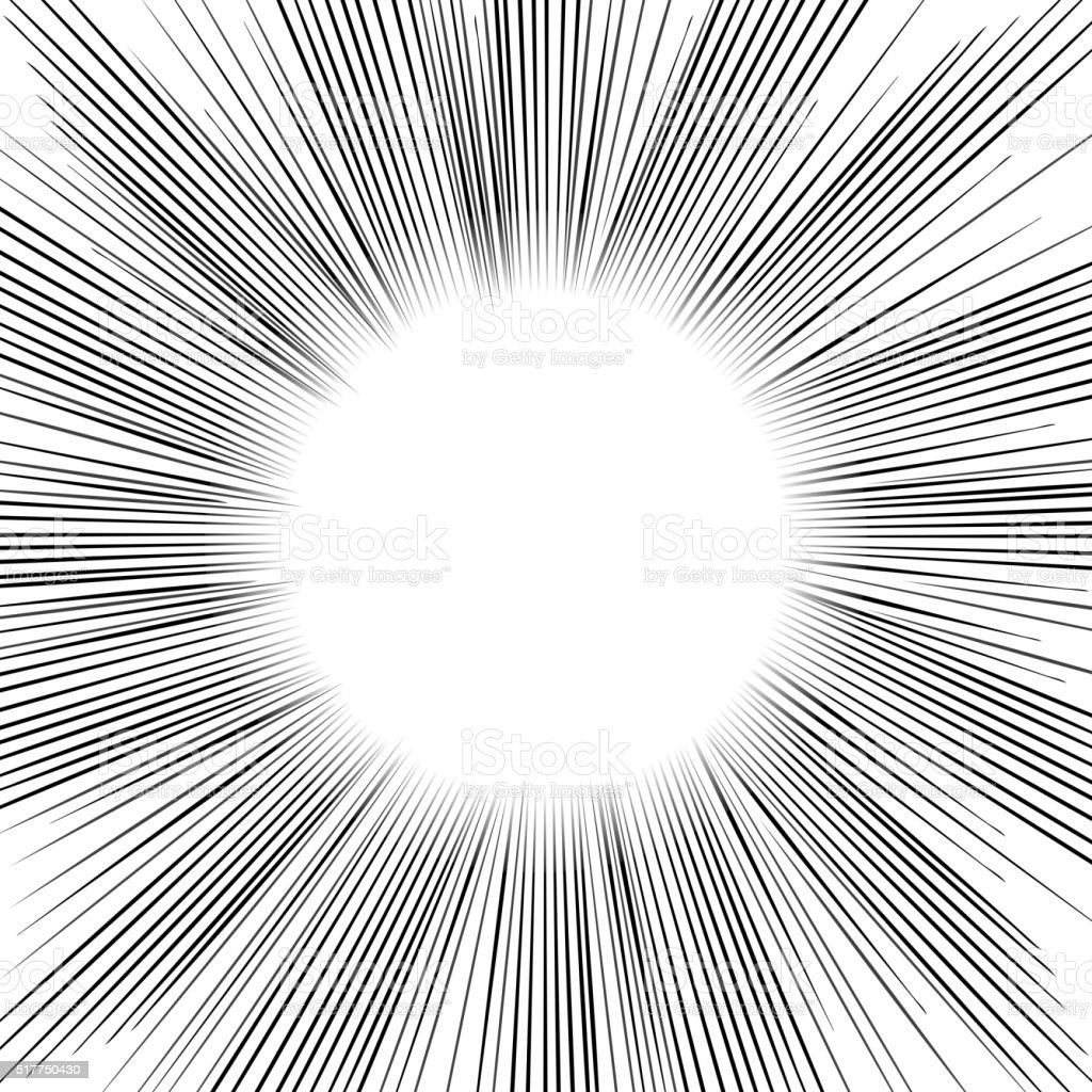 Radial Speed Lines graphic effects. vector art illustration
