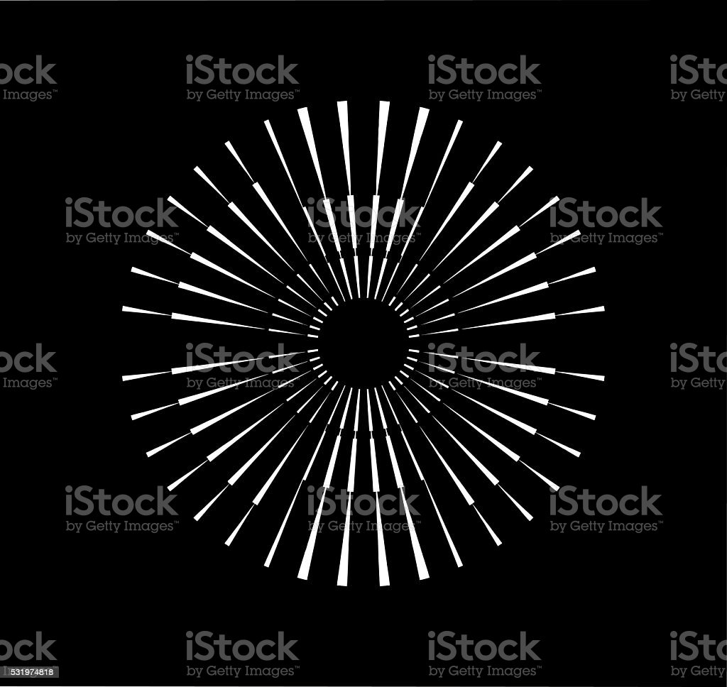 Radial Symmetrical Burst Design Element vector art illustration
