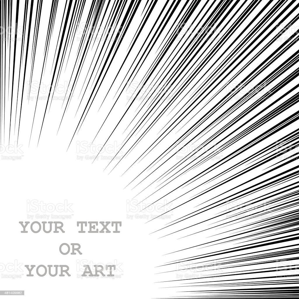 Radially speed lines bang vector art illustration