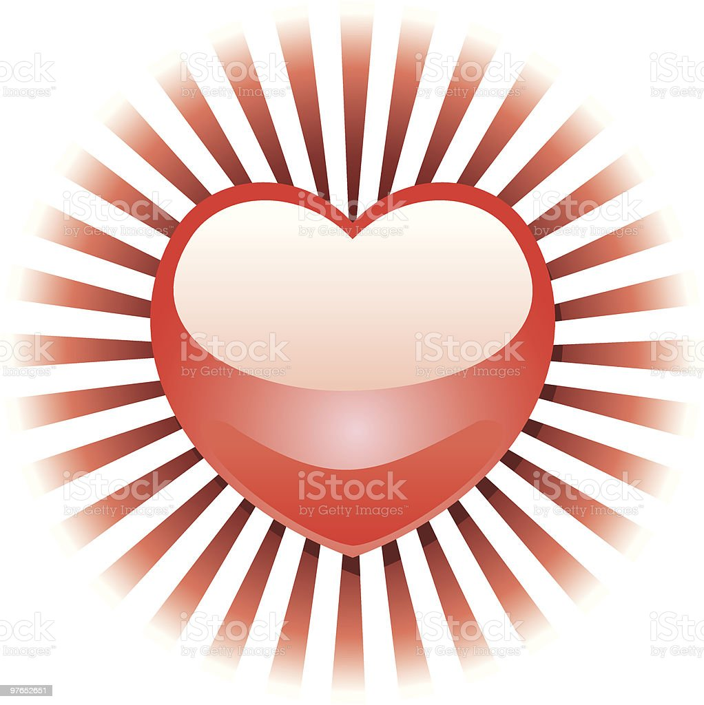 Radiant Heart royalty-free stock vector art