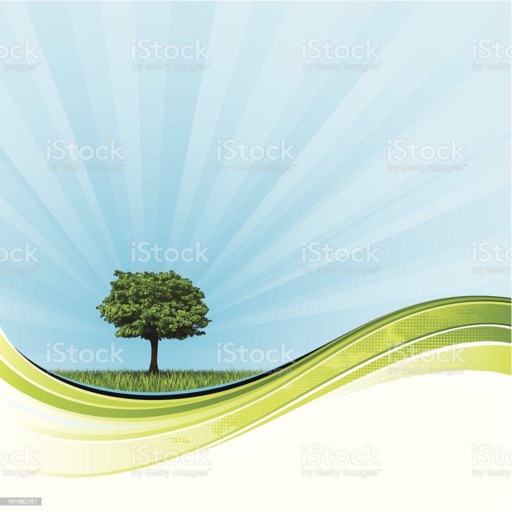 Radiant nature background royalty-free stock vector art