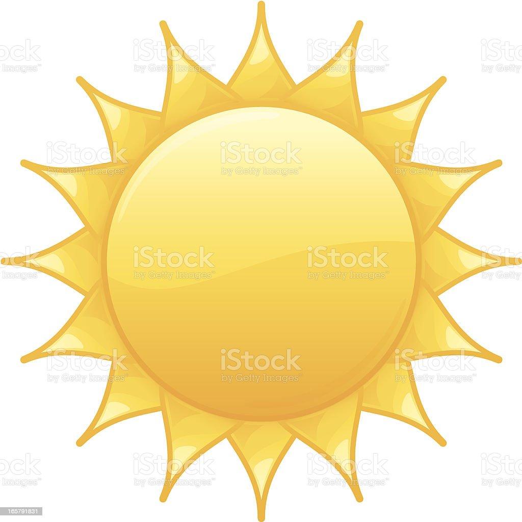 Radiant Yellow Summer Sun  Vector Illustration royalty-free stock vector art