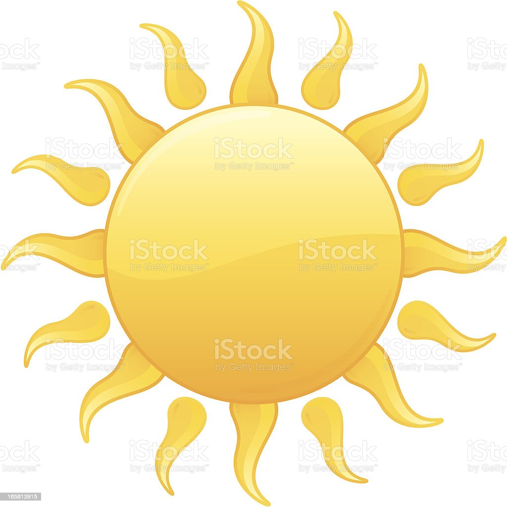 Radiant Yellow Summer Sun Vector Illustration royalty-free stock vector art