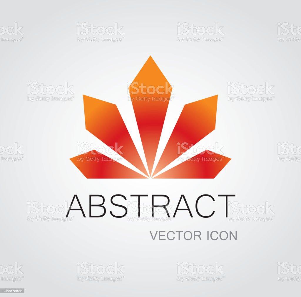Radiate icon vector art illustration