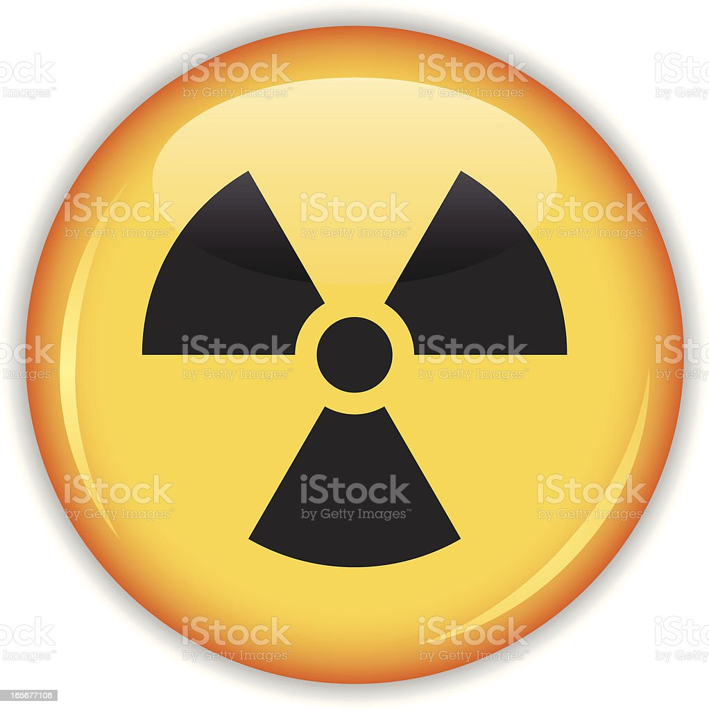 Radiation button royalty-free stock vector art