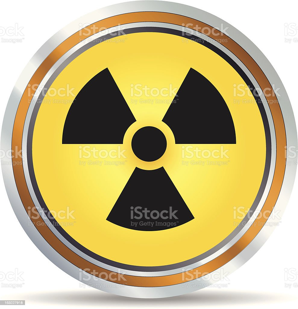Radiation icon royalty-free stock vector art