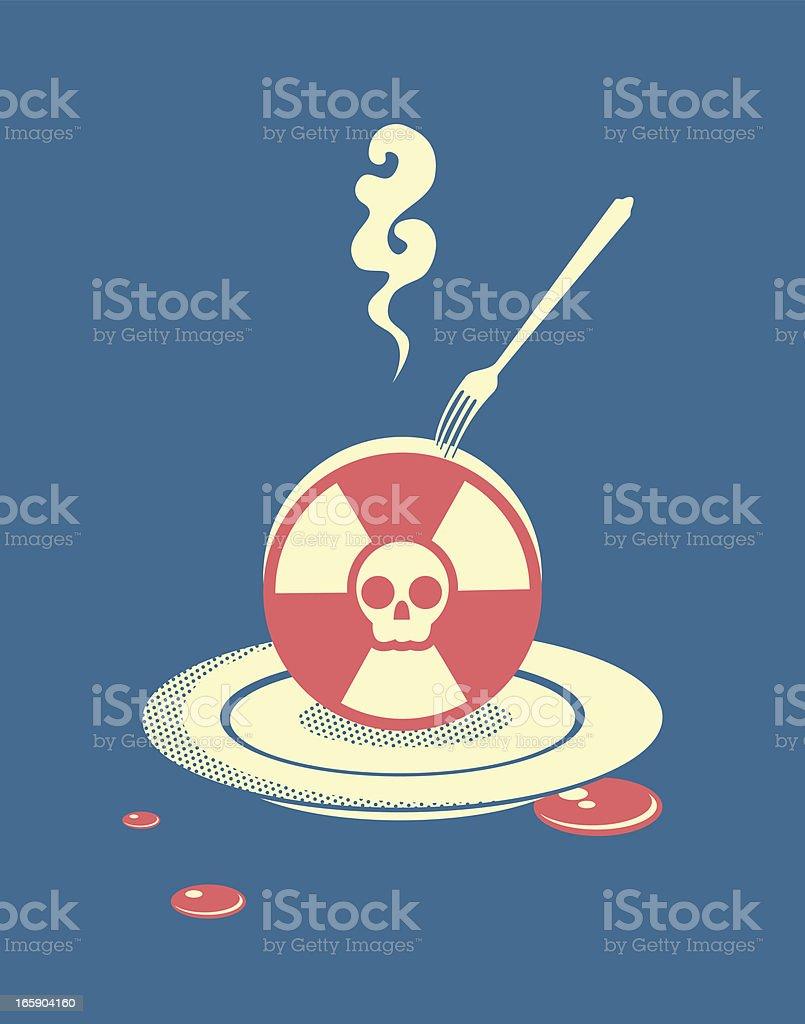 Radiation pollution royalty-free stock vector art