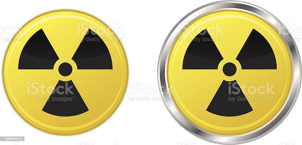 Radiation symbol icons royalty-free stock vector art