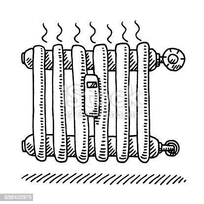 Radiateur De Chauffage Dessin Stock Vecteur Libres de