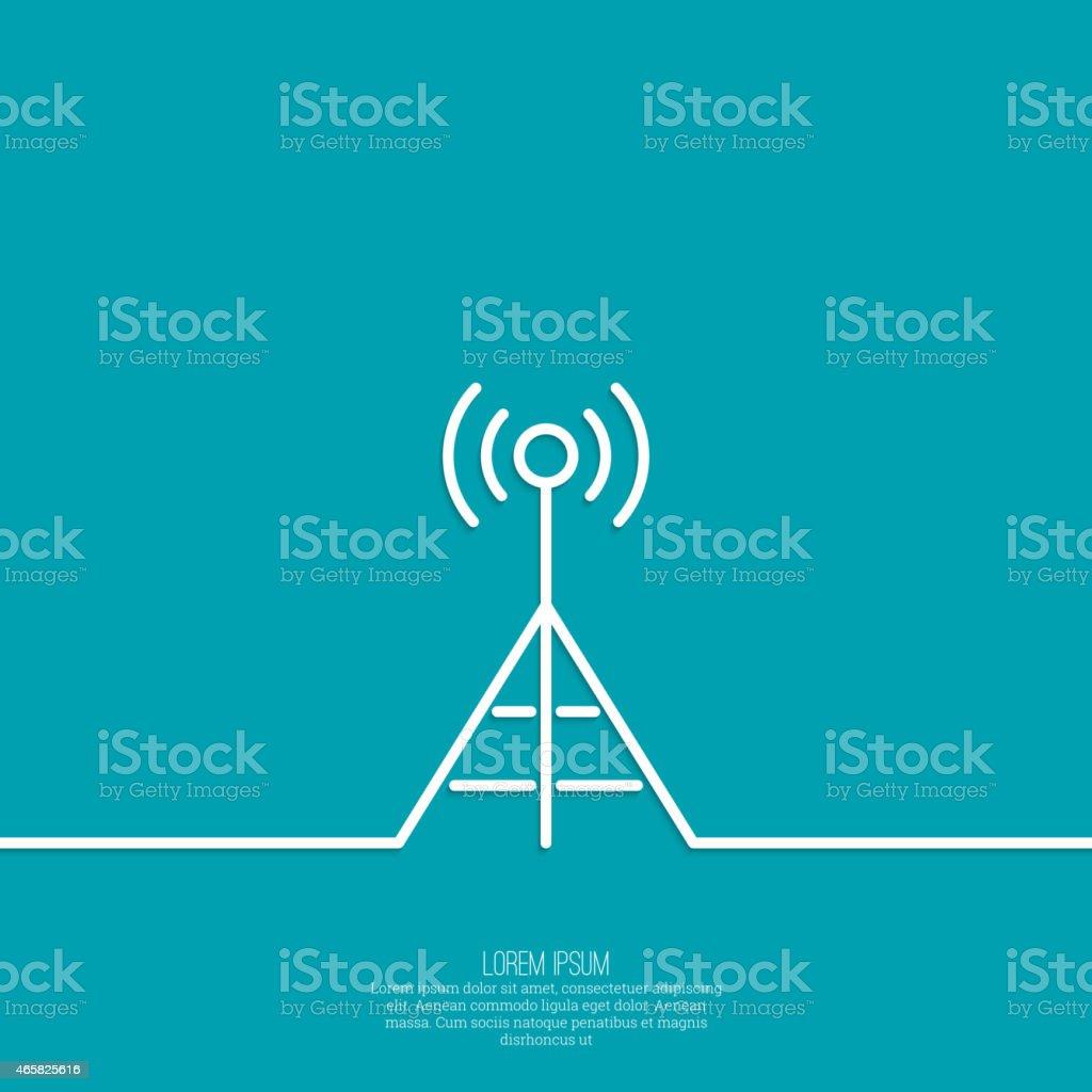 Radio antenna vector art illustration