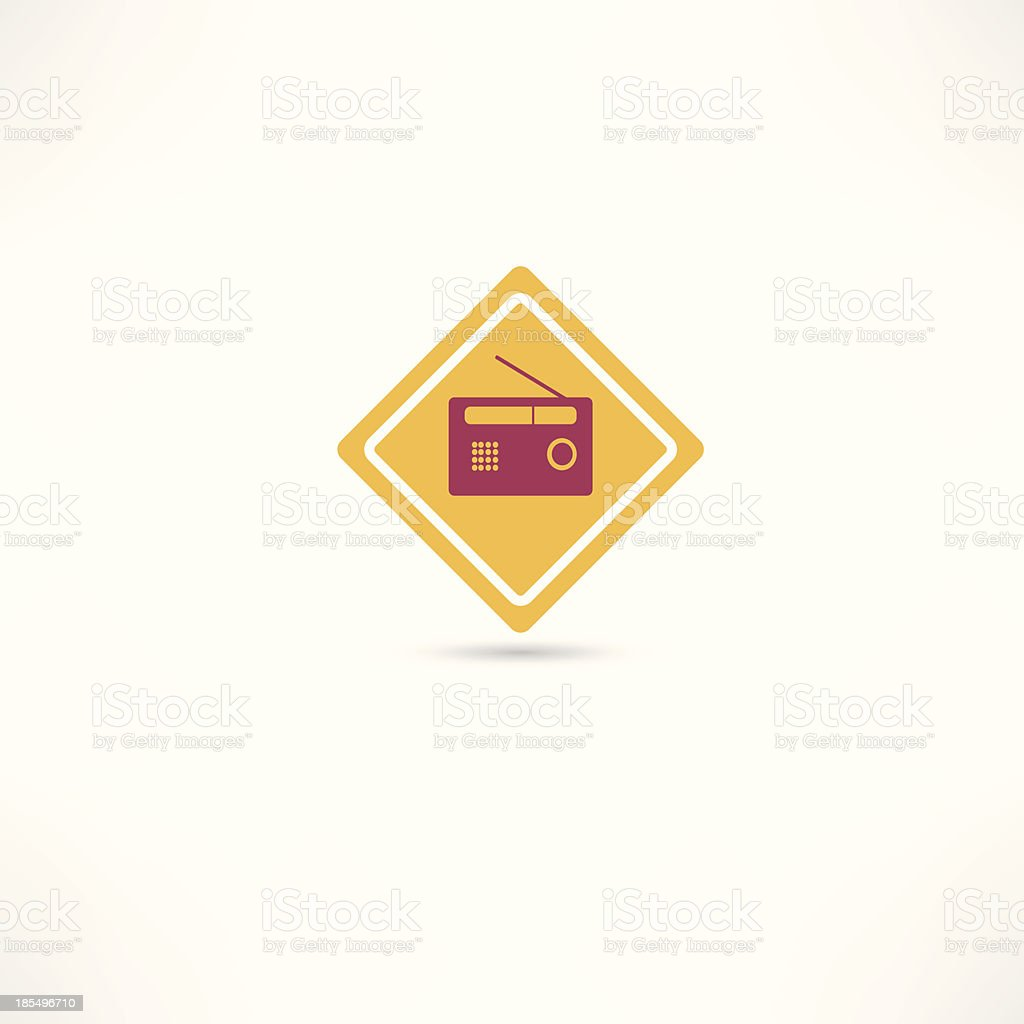radio icon royalty-free stock vector art