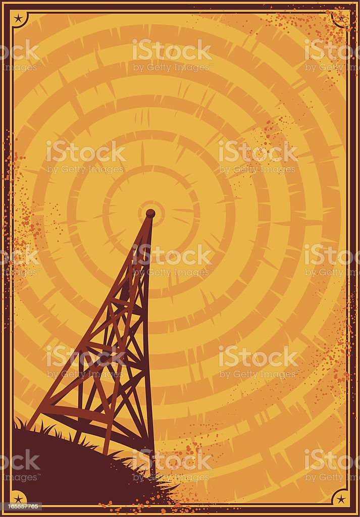 radio poster royalty-free stock vector art