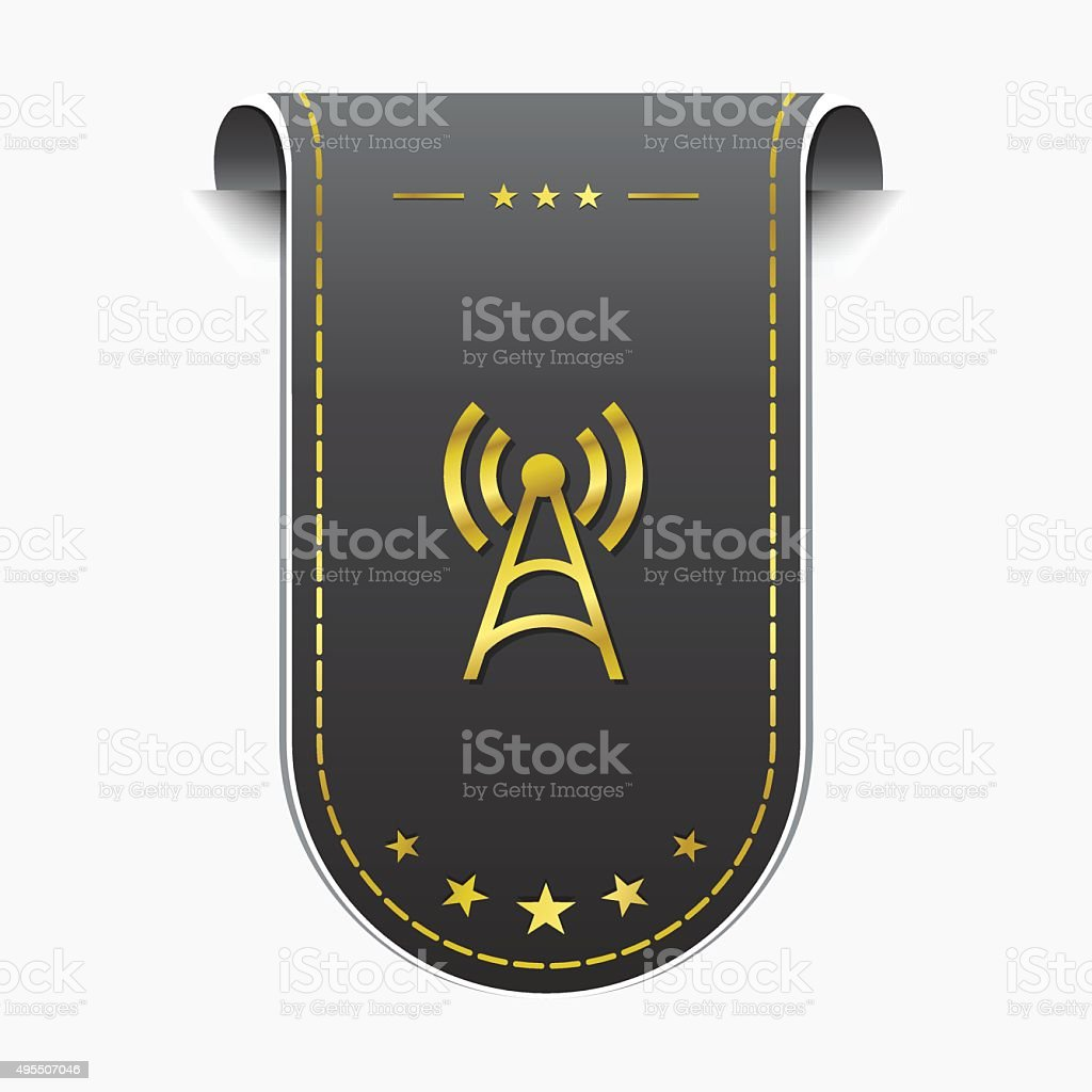 Funksignalgolden Vektor Icon Design Vektor Illustration 495507046 ...