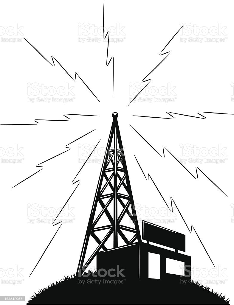 radio station graphic vector art illustration
