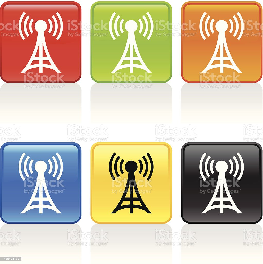 Radio Tower Icon royalty-free stock vector art