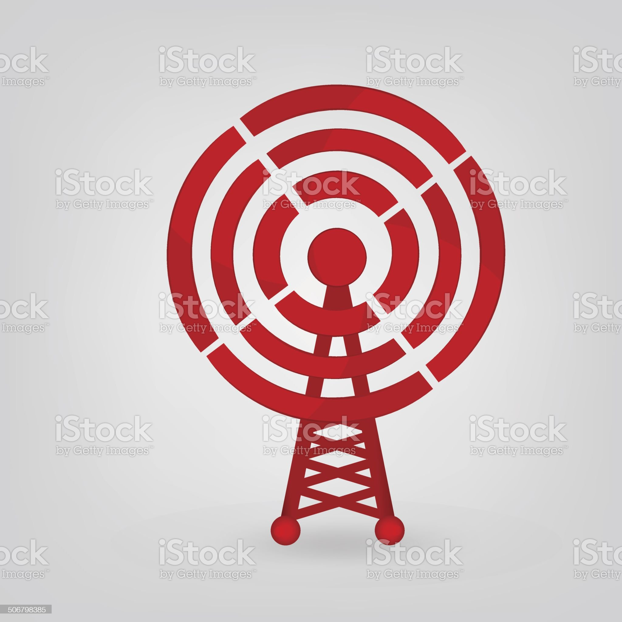 radio tower icon royalty-free stock vector art