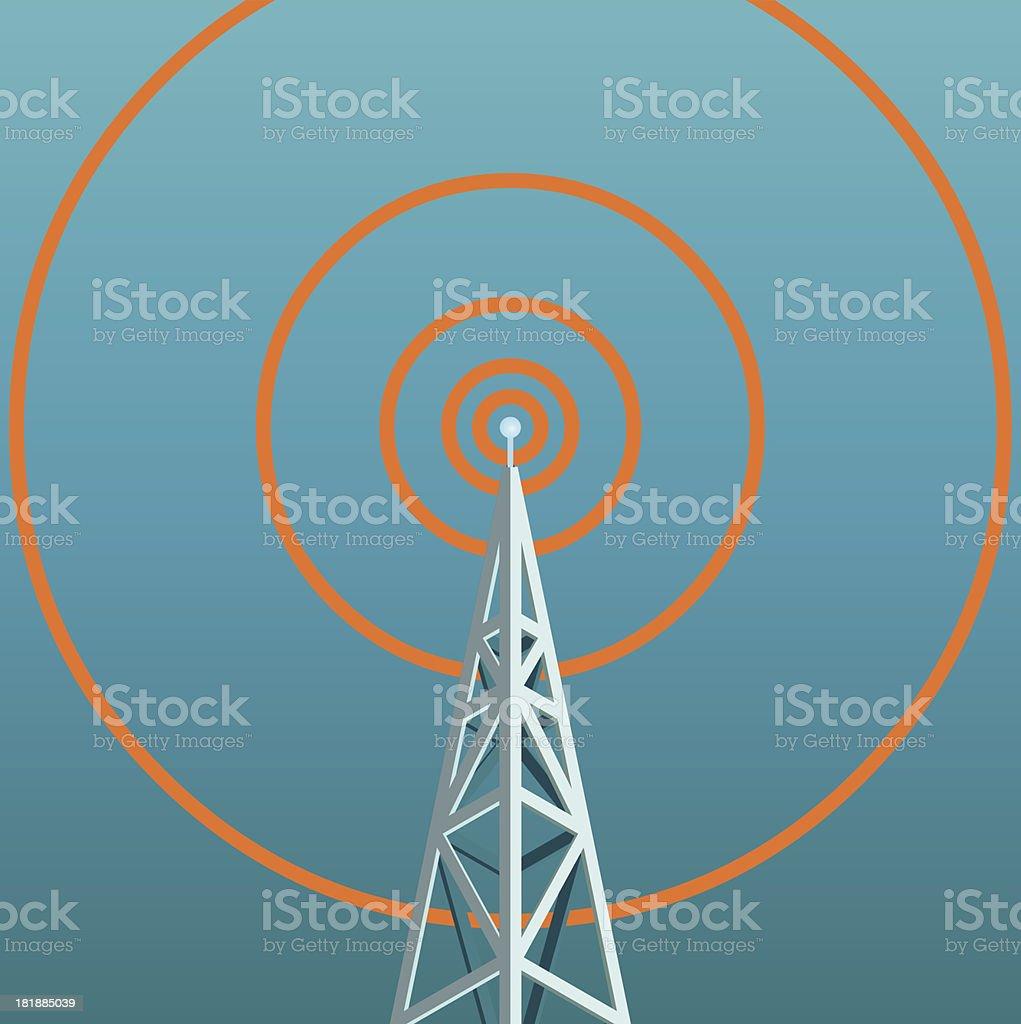 radio tower vector art illustration