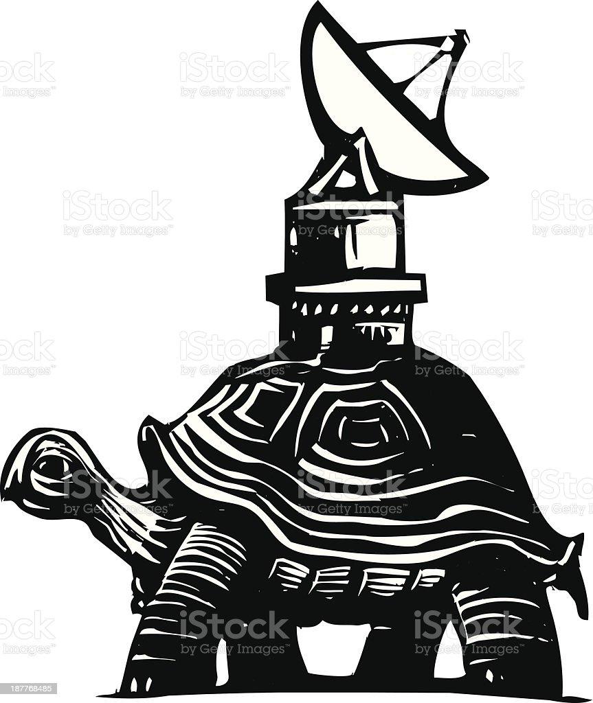 Radio Turtle vector art illustration