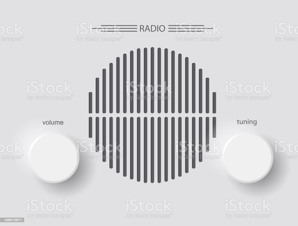 radio vector art illustration