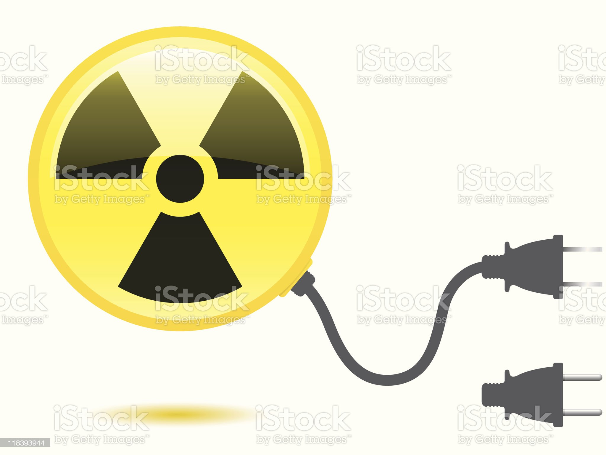 Radioactive icon with connector plug royalty-free stock vector art