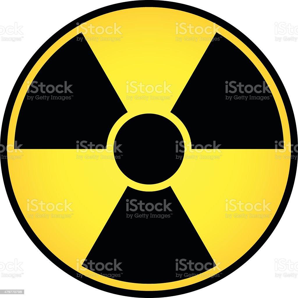 Radioactive sign vector vector art illustration