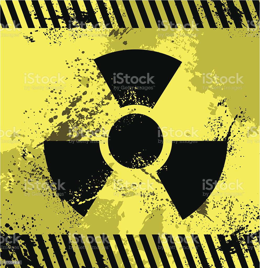 Radioactive Symbol royalty-free stock vector art