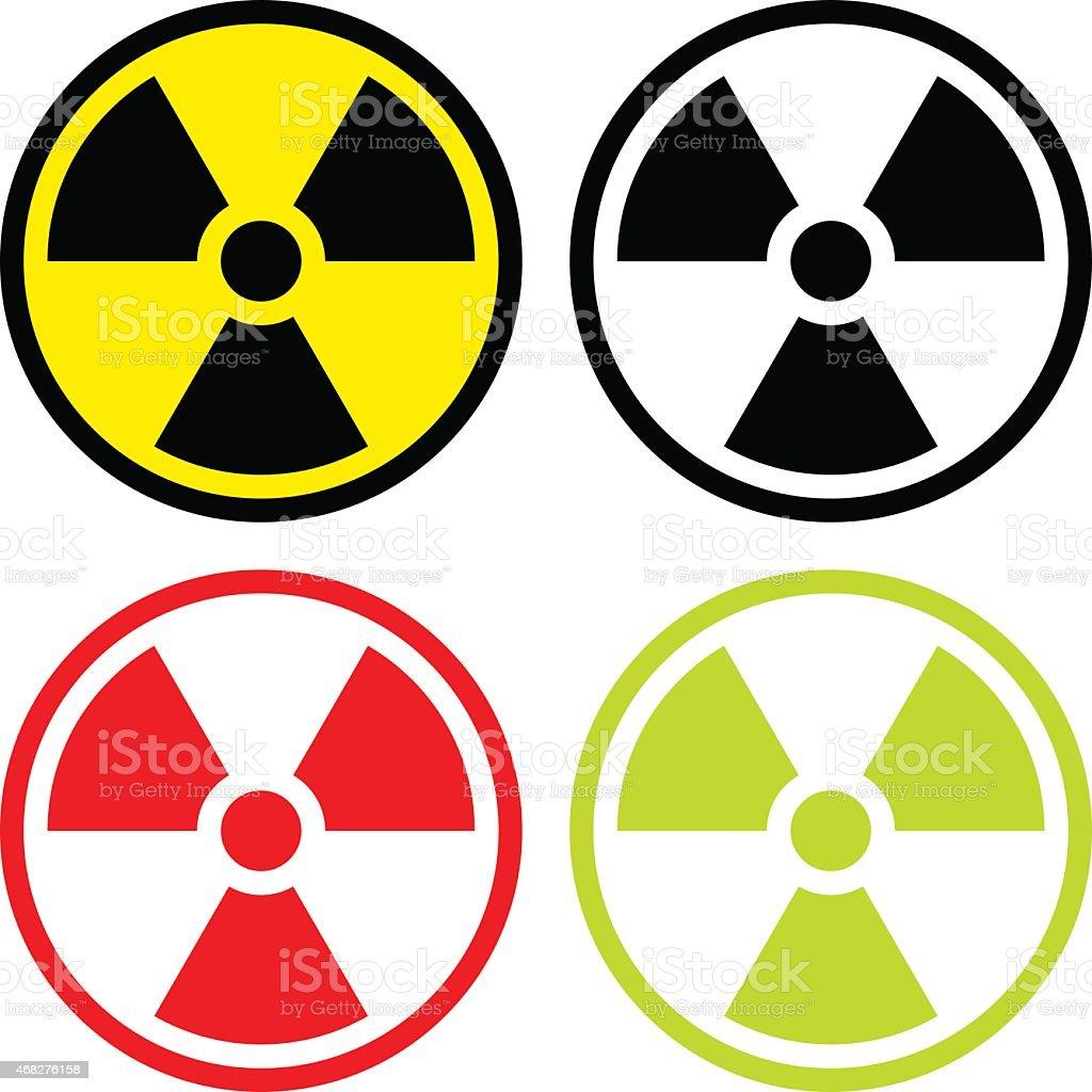 Radioactive symbol vector art illustration