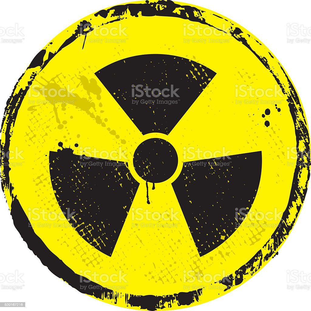 Radioactive Warning Symbol vector art illustration