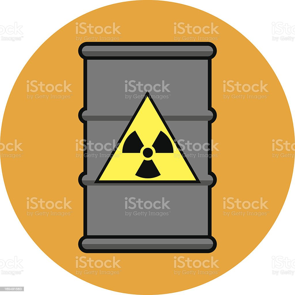 Radioactive Waste Drum royalty-free stock vector art