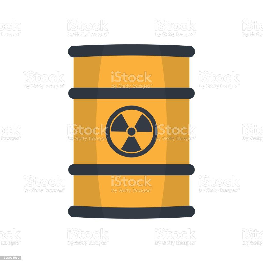 Radioactive waste in barrel. vector art illustration