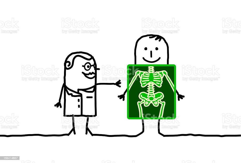 radiologist & patient royalty-free stock vector art