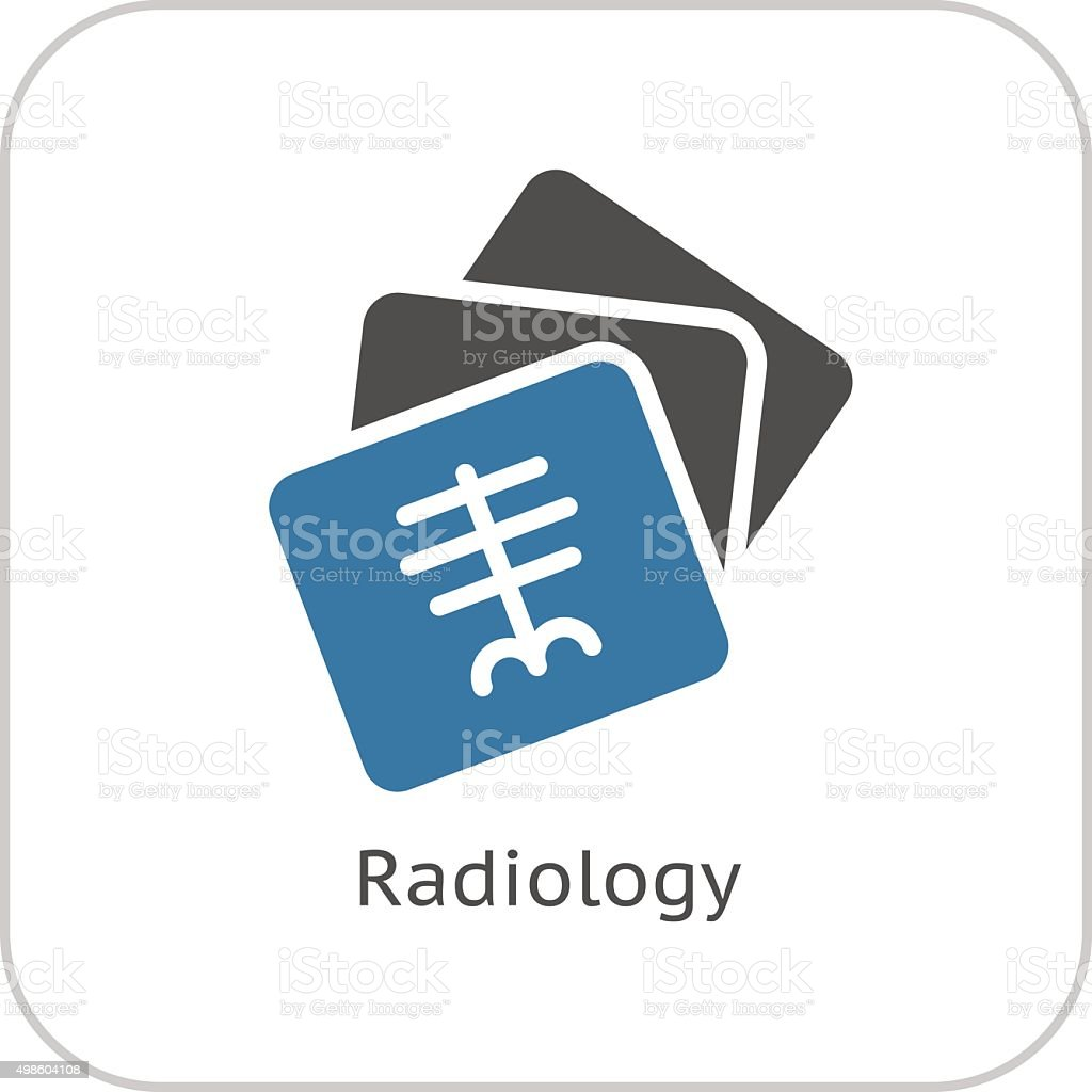 Radiology and Medical Services Icon. Flat Design. vector art illustration