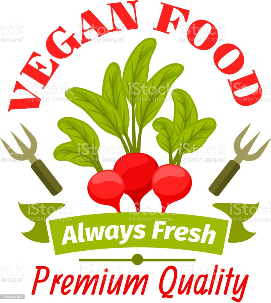 Radish vegetable isolated icon for food design vector art illustration
