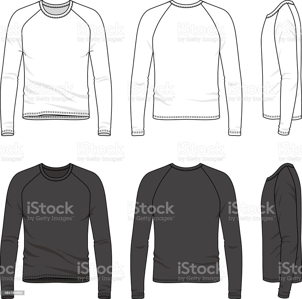 raglan sleeve top vector art illustration