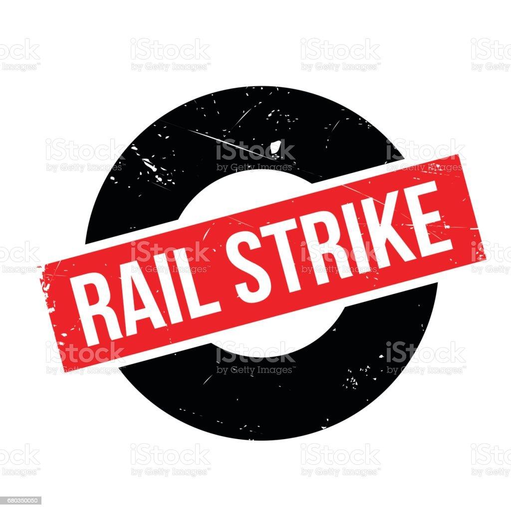 Rail Strike rubber stamp vector art illustration