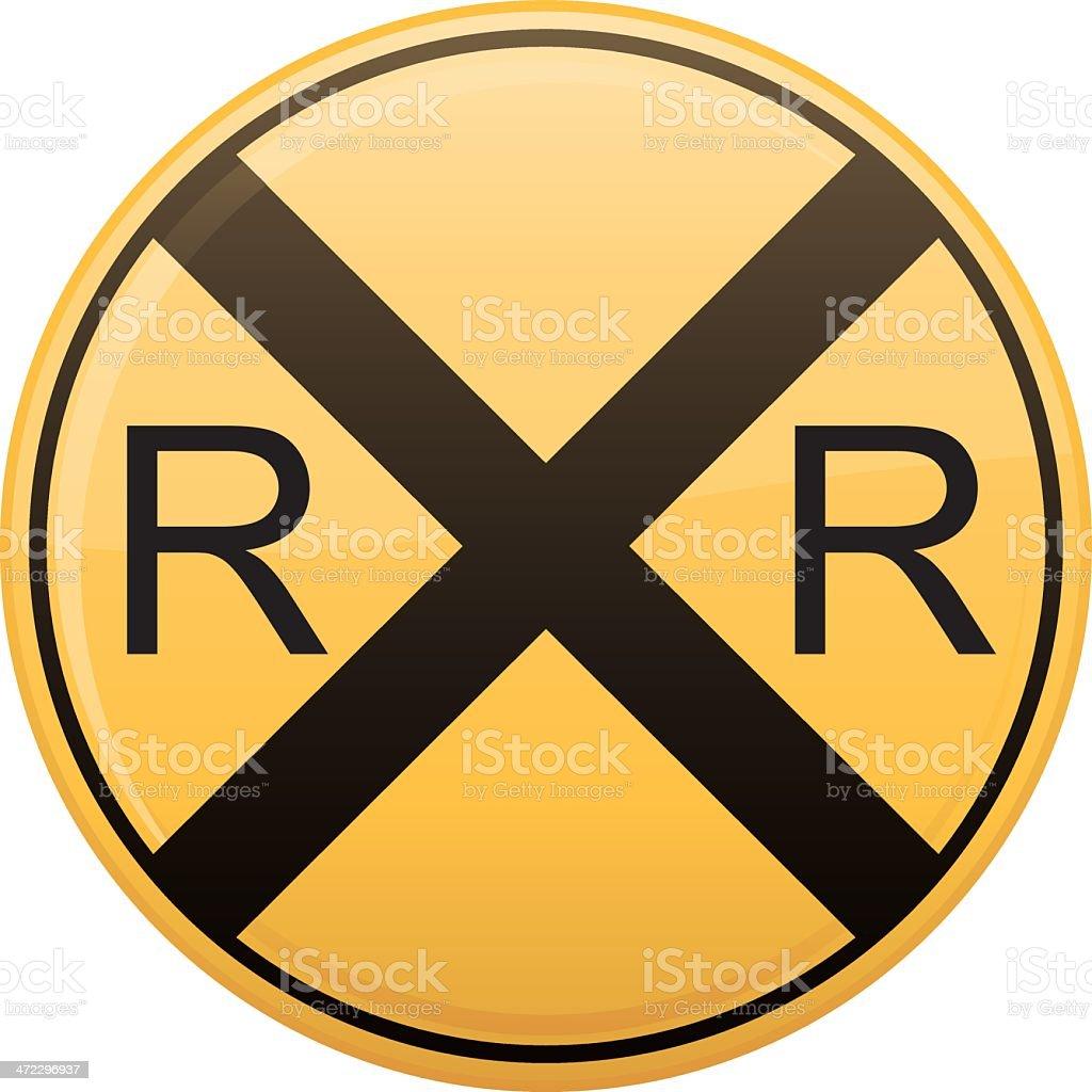 Railroad Crossing Symbol royalty-free stock vector art