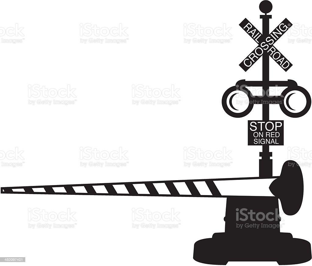 Railroad Crossing vector art illustration