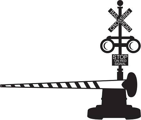 Railroad Crossing Clip Art, Vector - 35.1KB