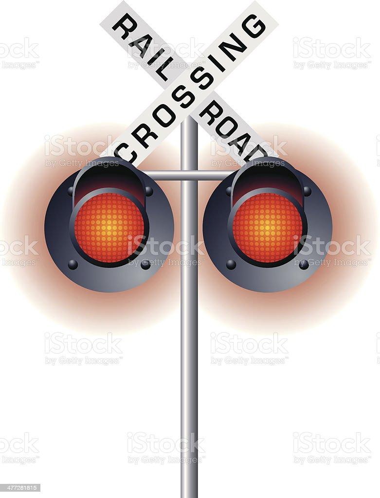 Railroad Lights C vector art illustration