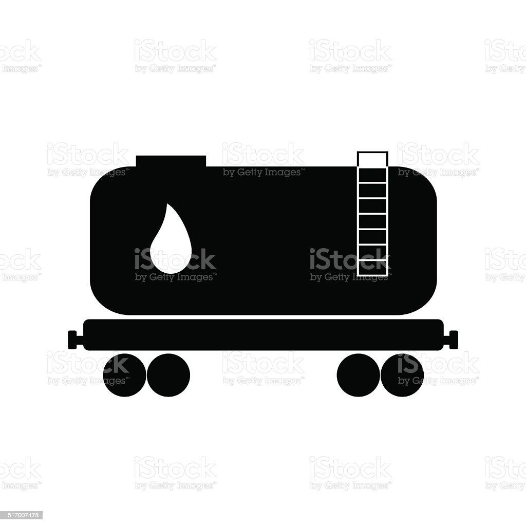 Railroad oil petroleum tank icon. Petroleum transportation. Logistics. Vector illustration. vector art illustration