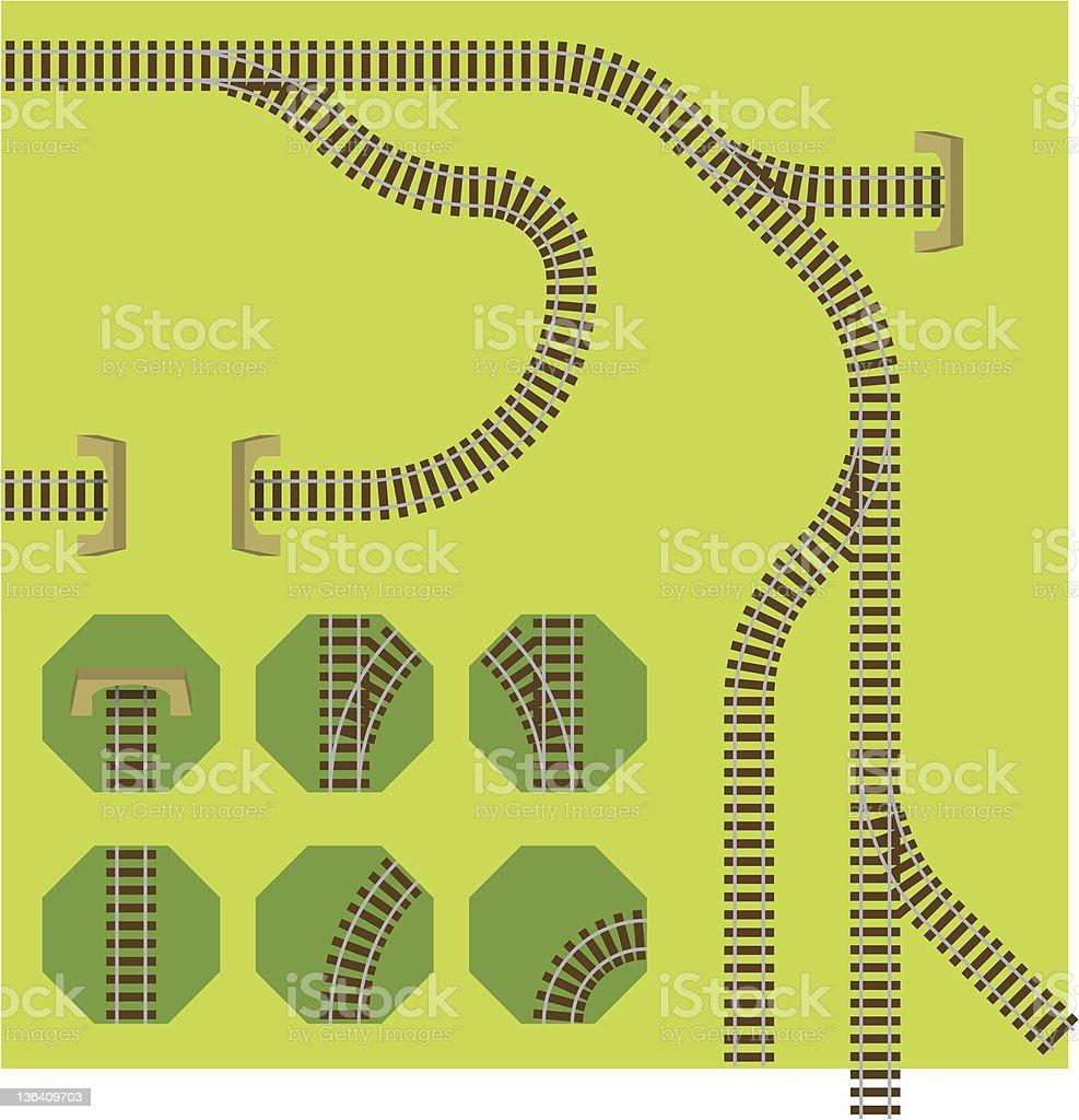 Railroad plan vector art illustration