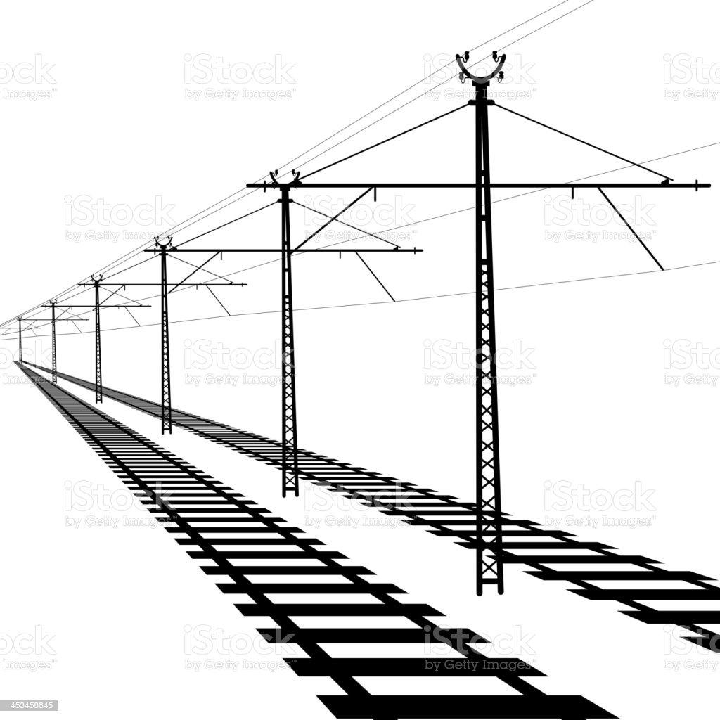 Railroad vector art illustration