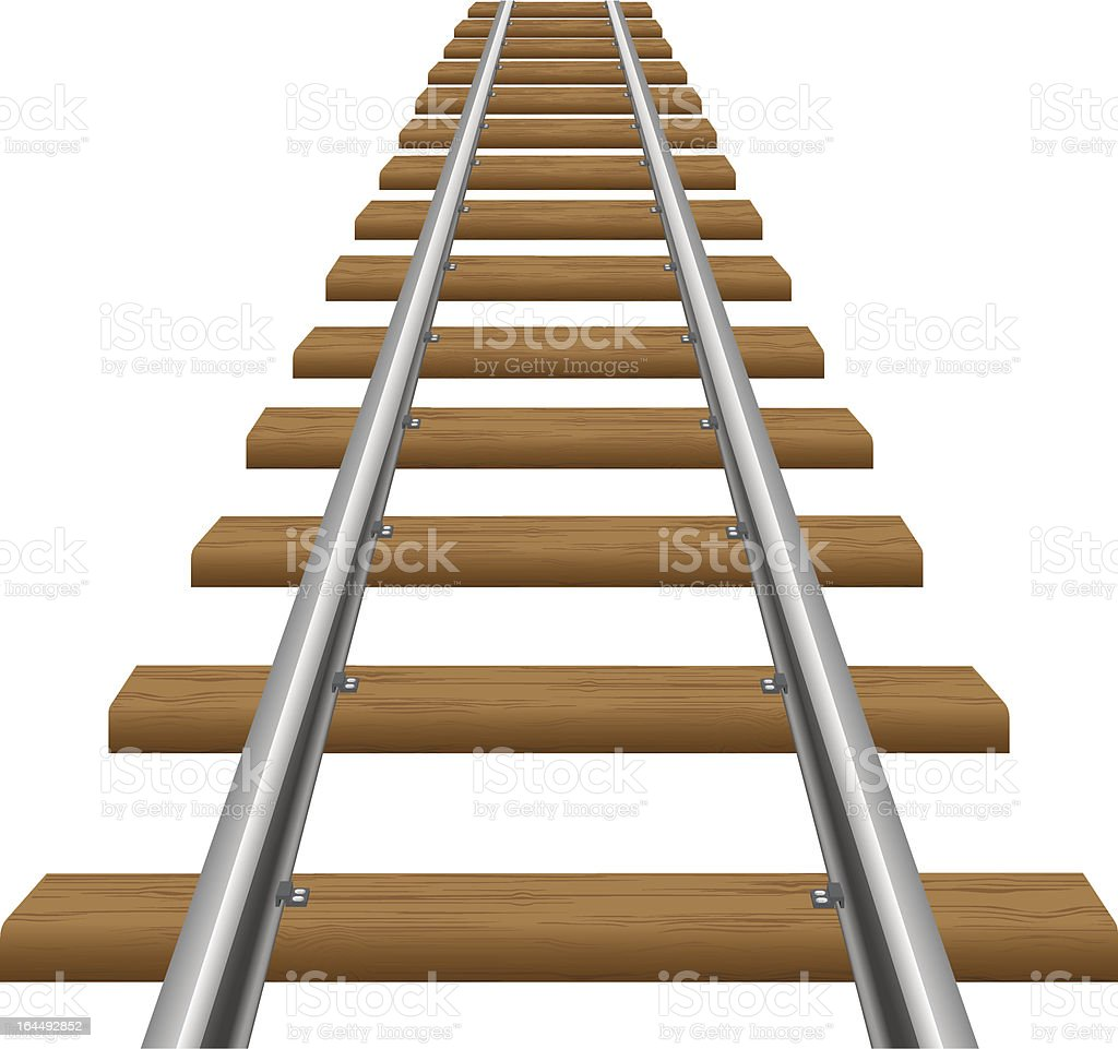 rails with wooden sleepers vector illustration vector art illustration