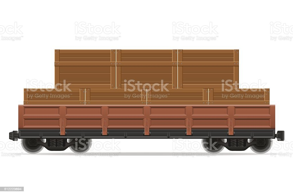 railway carriage train vector illustration vector art illustration