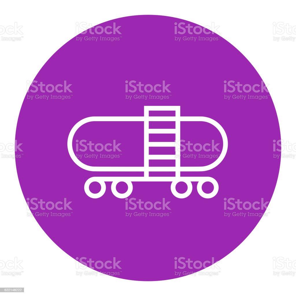Railway cistern line icon vector art illustration