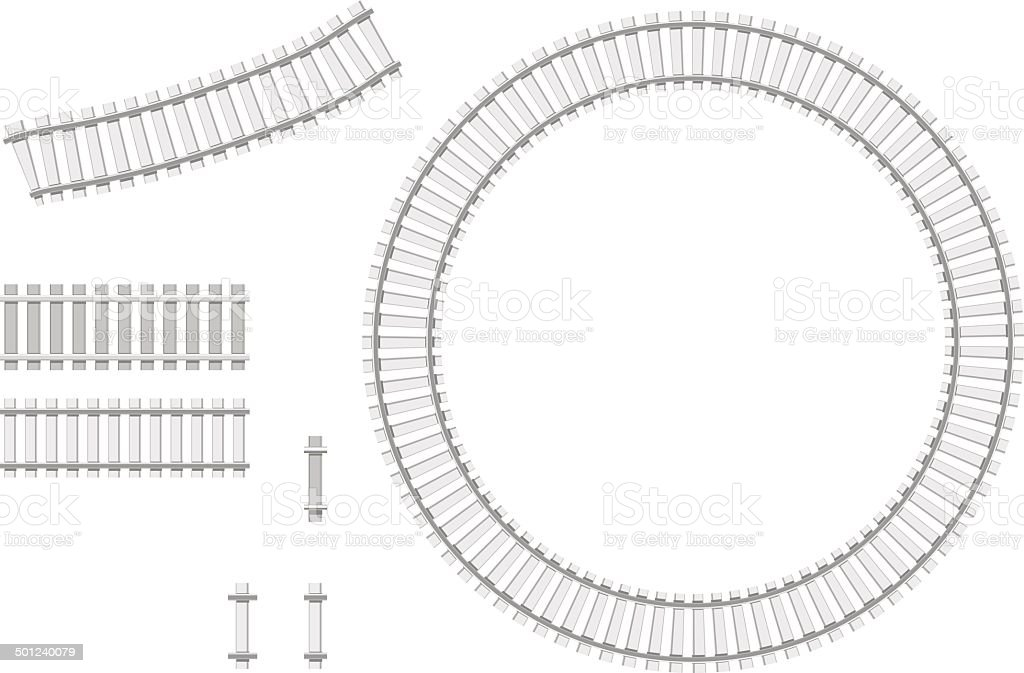 railway constructor vector art illustration