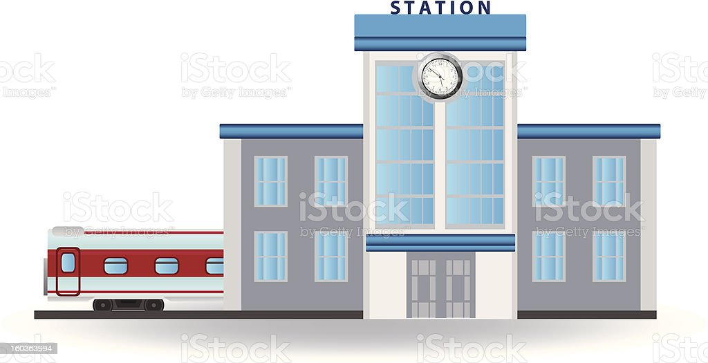Railway station royalty-free stock vector art