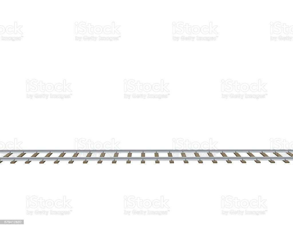 Railway track. 3d Vector illustration.Side view. vector art illustration